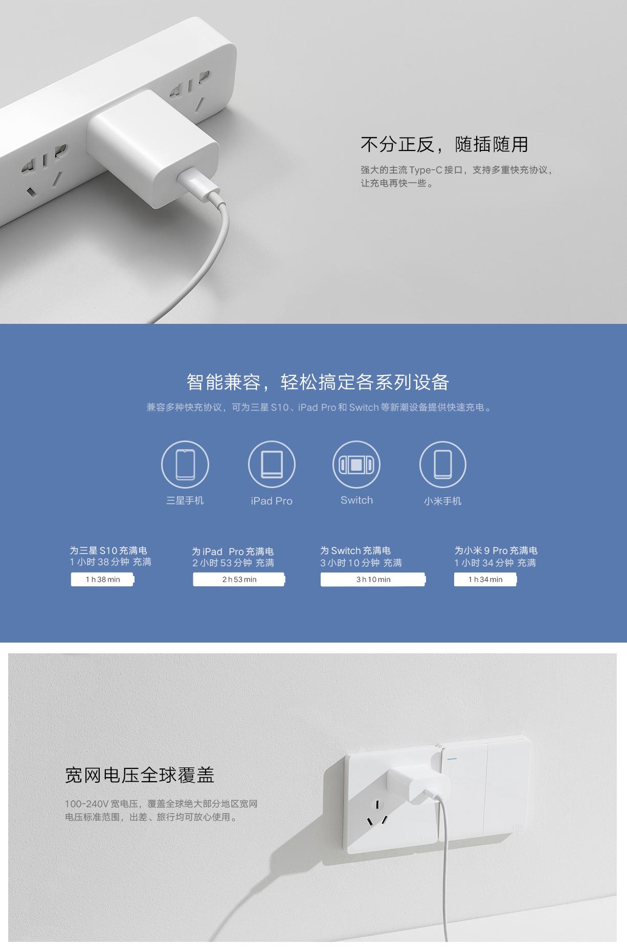Cargador Xiaomi 20W para cargar cualquier smartphone o gadget, pensado para los iPhone 12