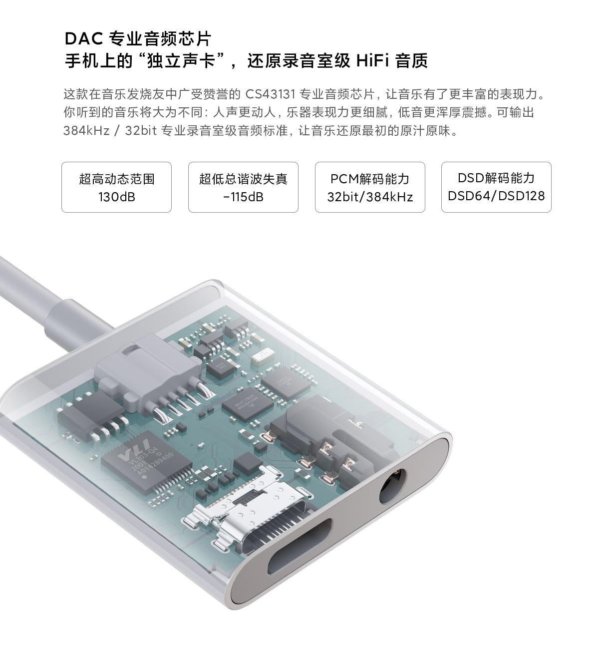 Xiaomi DAC, el primer amplificador de sonido con cargador de Xiaomi