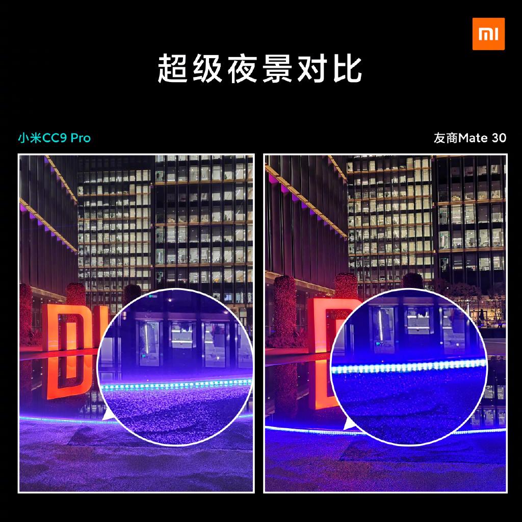 Mi CC9 Pro (Mi Note 10) 夜景对比